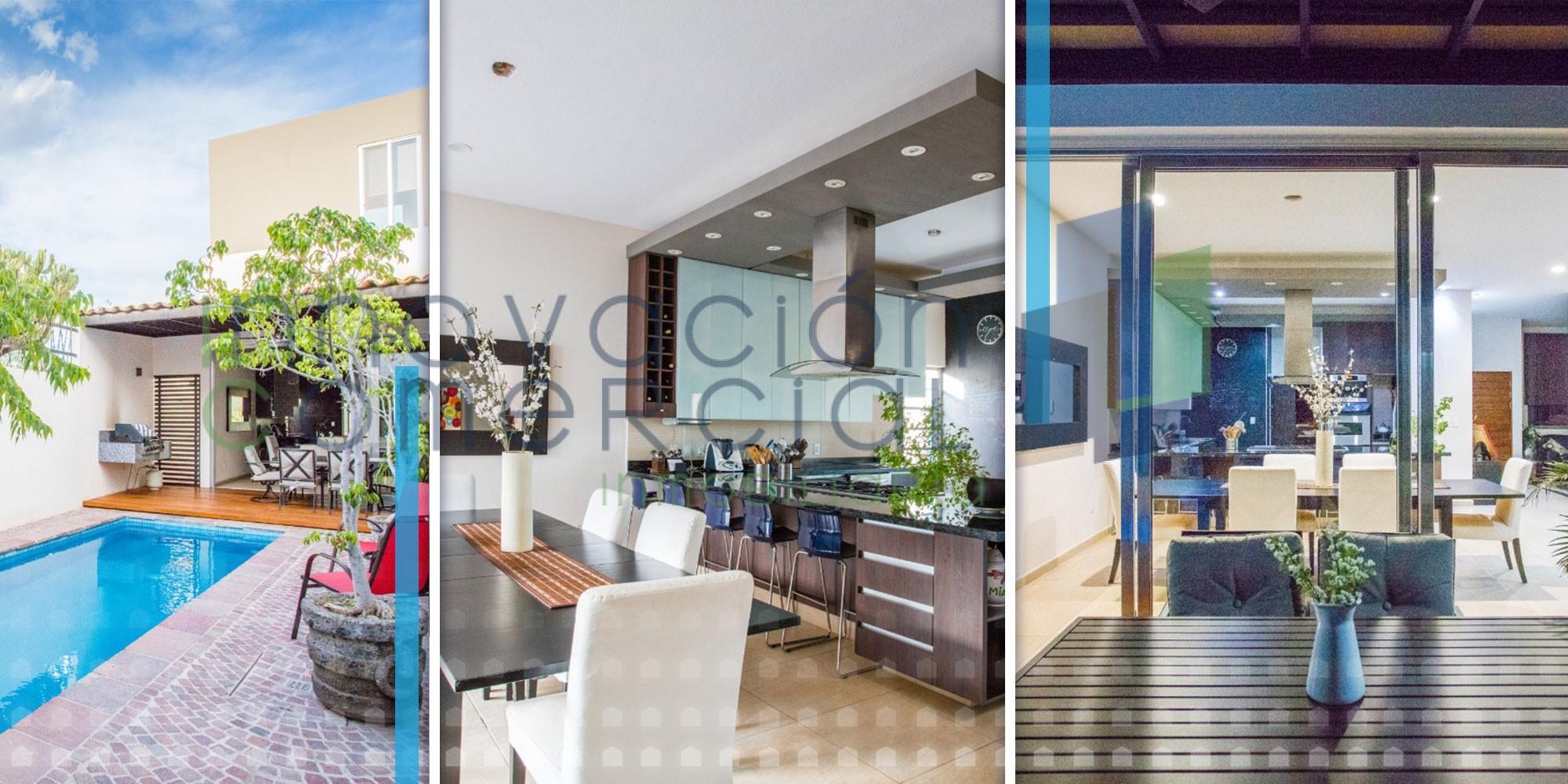 Real de Juriquilla, casa en venta con alberca, diseño único y hermosa vista.